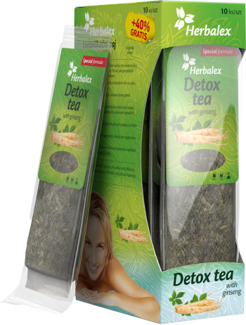 Herbalex detoxikační čaj s ženšenem